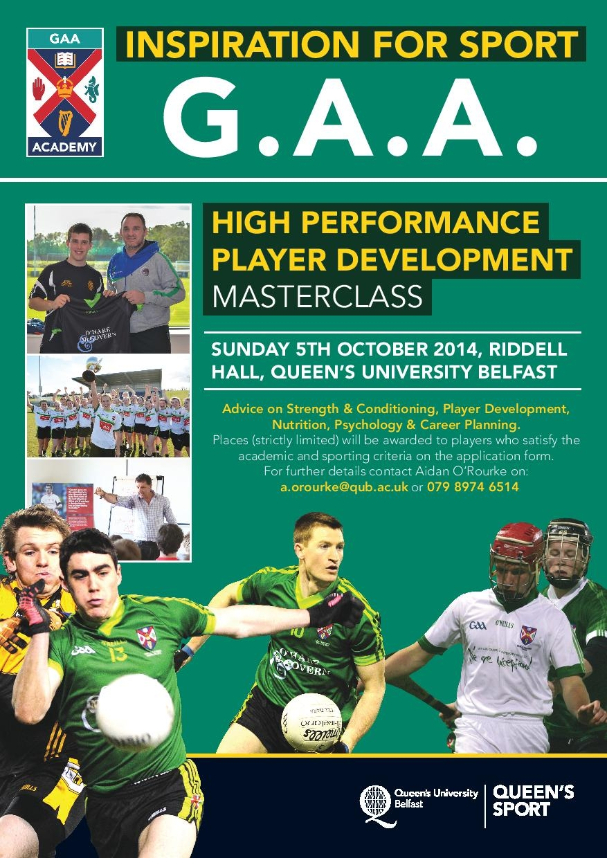 Upper 6th / Ulster Colleges Inspiration for GAA Event