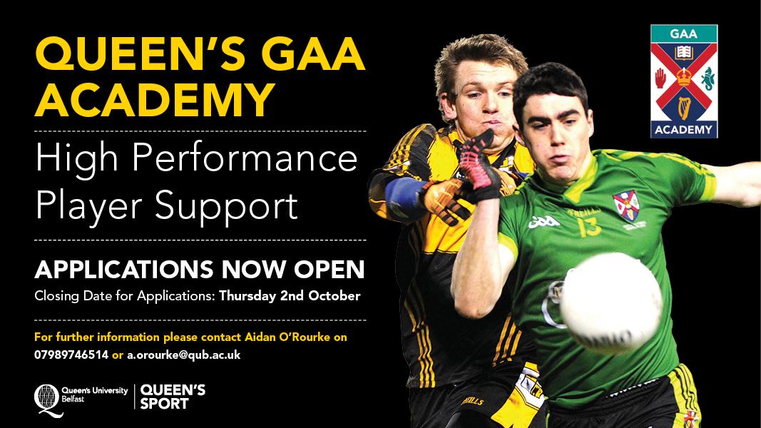 Sean O'Neill Academy Applications open