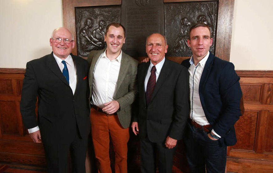Queen's honour Dessie Ryan with GAA Hall of Fame award
