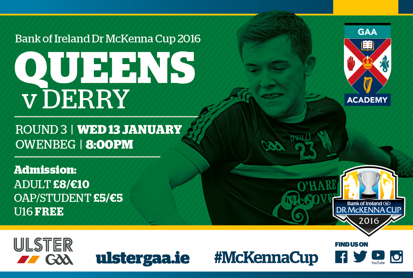 UPDATED: Round 3 Dr McKenna Cup in Celtic Park