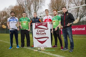 Competing teams in the 2017 Conor McGurk Cup gathered to launch the competition at the final venue at Upper Malone, Queen's University.