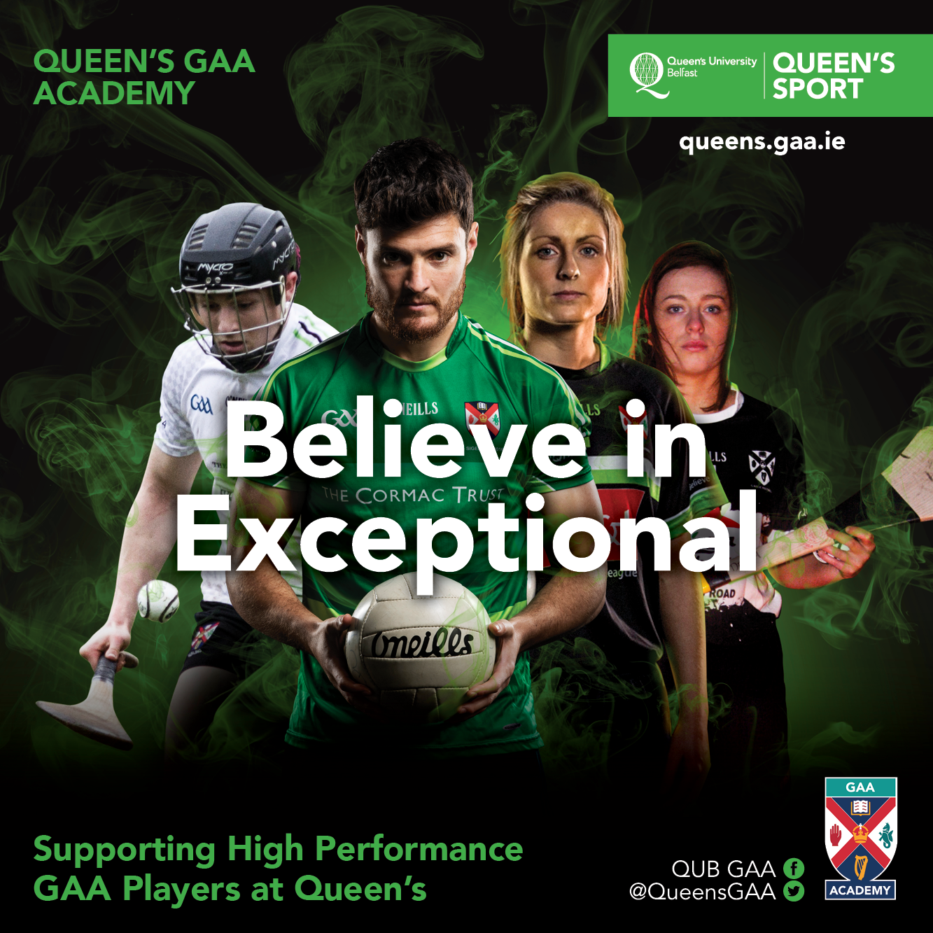 Applications for support through the GAA Academy at Queen's close this week